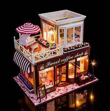 Fai DA TE Handcraft IN MINIATURA PROGETTO luci & musica Natale CAFFE negozio casa delle bambole