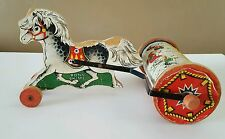 Vintage Fisher Price Pony Chime Mid Century Pull Toy