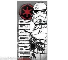 STAR WARS STORM TROOPER CHILDRENS BEACH BATH TOWEL SWIMMING BOYS GIRLS WHITE RED