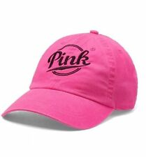 NWT 1 VICTORIA'S SECRET PINK BASEBALL PINK ON FLEEK ADJUSTABLE STRAP CAP HAT O/S