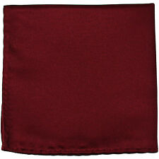 New men's polyester solid burgundy hankie pocket square formal wedding party