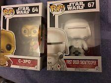 Star Wars C-3p0 y figuras de vinilo de primer orden Snowtrooper Funko