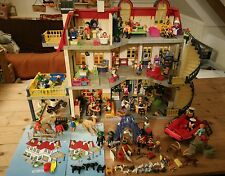 LOVELY MODERN PLAYMOBIL DOLLS HOUSE & EXTRAS LARGE JOBLOT USED FADING ON WALLS