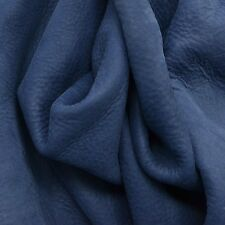Leather Cow Hide Project Piece Clear Lake Blue 4 Square Foot 3-4 oz nubuck-16