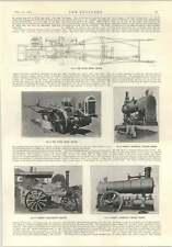 1914 Tasker TRATTORE A CATENA Davey Paxman portatile sotto tipo UNI flusso