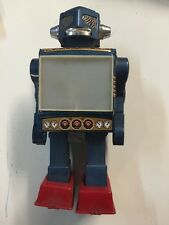 Vintage 1960's Horikawa Video Walking Tin Robot