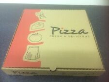 "100 x  10"" Brown Pizza Box FAST FOOD KEBAB TAKEAWAY CATERING HOT BOXES (0412)"