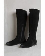 Anthropologie Seychelles Invite Tall Suede Boot Black Women Size 6.5