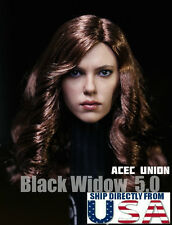 1/6 Scarlett Johansson Black Widow 5.0 Head Sculpt For Captain America 3  U.S.A.