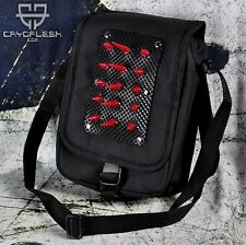 Cryoflesh UV Reactive Spike Cyber Industrial Gothic EMO EBM Club Bag Purse Tote