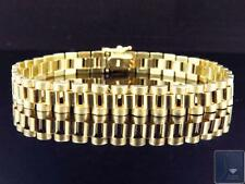 """New Mens Solid 10K Yellow Gold Polished Matte Finish Jubilee Style Bracelet 8.5"""""""