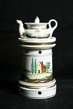Tisanière en porcelaine 19ème/ Tisane pot, porcelain, 19th century