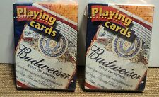 BUDWIESER PLAYING CARDS SET OF 2 DECKS, SEALED NEW