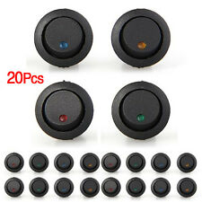 20x LED Anzeige Wippschalter Schalter Ein-/Ausschalter DC 12V 16mm 4 Farben DE