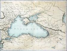 Carte dépliante de la Russie à la mer Noire et des pays environnants - Couleur