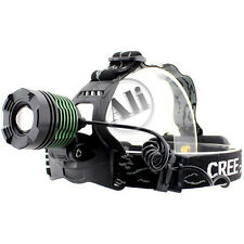 New 1600LM CREE XM-L T6 LED Zoom Headlamp Headlight Adjustable Green Zoom Lamp