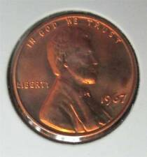 1967 SMS Special Mint Set Lincoln Cent Penny-Uncirculated