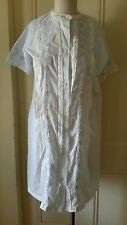 Vintage Philmaid Embroidered Housedress Nightgown Nightie Womens S Lace Floral