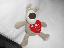 american greetings tan knit dog boofle puppy plush i love you heart red 9""