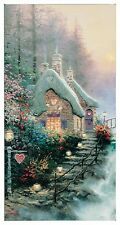 "Thomas Kinkade - Sweetheart Cottage II  – 31"" x 16"" Gallery Wrapped Canvas"