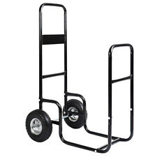 Firewood Carrier Wood Mover Hauler Fire Rack Caddy Cart Dolly Rolling