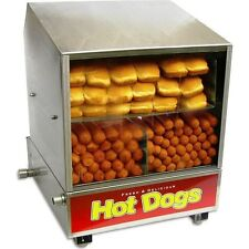 Hot Dog Steamer & Bun Warmer, Benchmark Dog Pound Hotdog / Sauage Cooker Machine