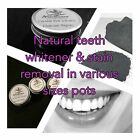 Ultra fine activated charcoal natural teeth whitener & stain removal in jar