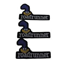 Looney Tunes' Series Roadrunner Name and Face Embroidered Patch Set of 3