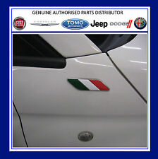 Fiat 500 Italian Flag Wing Badges Emblem Motif  New and Genuine 50901681