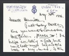 Prince Charles Signed Card to Queen Elizabeth II Lady-in-Waiting 1996 Highgrove