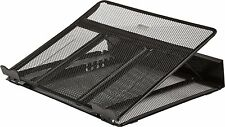 New Ventilated Adjustable Laptop Stand Holder Mesh Metal Black Cooling Rack Pad