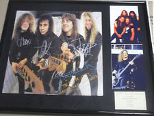"""METALLICA Frame Hand Signed by ALL 20 x 16"""" LP Display"""