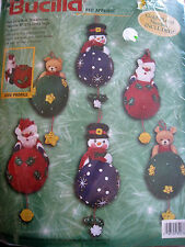 Christmas Bucilla Felt Applique Holiday Ornament Craft Kit,TREE TRIMMERS,84078