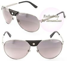 GUCCI Aviator Men's Black Silver Sunglasses GG 2226S 6LBEU