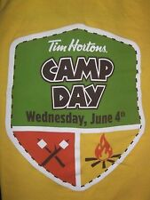 Tim Hortons yellow Camp Day T-Shirt 2014 Size XL