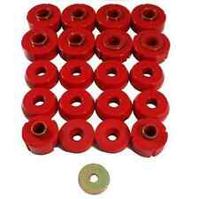 Prothane 1980-1996 Ford Bronco Body Mount Bushing Kit 20 Piece Set (Red)