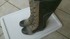 SOREL CATE THE GREAT  Leather  WEDGE TALL  BOOTS size 7