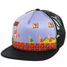 NEW Nintendo SUPER MARIO BROS SNAPBACK HAT Men's Trucker Cap Wiiu Maker Game Era