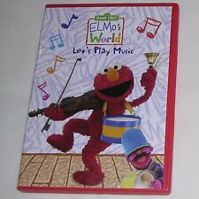 Sesame Street Elmo's World Let's Play Music DVD2010 Ring Bell Fiddling Drum Beat