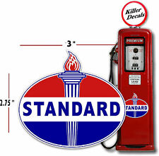 """(STAN-2) 3"""" OLD STANDARD TORCH GAS PUMP OIL TANK DECAL LUBSTER"""