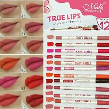 12pcs Colours / Box MeNow Kissproof True Lips High Quality Lip Liner Pencil SET