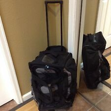 Olympia 22-inch 8-pocket Carry On Rolling Upright Duffel Bag Travel Black