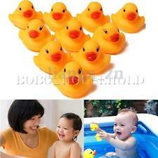 10pcs Mini canard eau jouet de bain jeu bébé enfant sonner caoutchouc grinçant