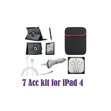 iPad 4 High Quality 7 in 1 New Premium Bundle 7 Accessory Kit - All You Need