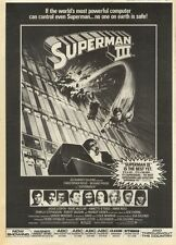 23/7/83PN23 ADVERT: CHRISTOPHER REEVES IN SUPERMAN III 15X11