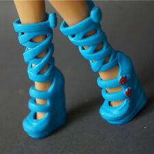 Monster High Dolls Accessories Blue Cute Long Boots Heals Shoes for Kids Gift