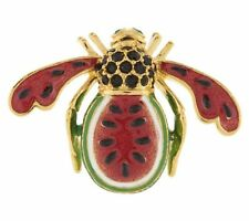 BRAND NEW IN BOX-JOAN RIVERS LARGE WATERMELON BEE PIN~NEW IN BOX