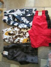NEW HANG TEN LINED SWIMMING SUIT SHORTS TRUNKS MENS S CLOSEOUT! 4 PAIR FREE SHIP