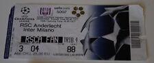 Ticket for collectors CL Anderlecht Brussel Inter Milan 2004 Belgium Italy