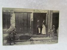 Vintage Salvation Army Postcard:  At Work in the Slums